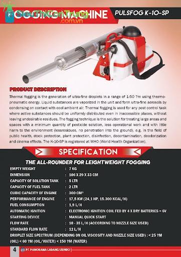 máy phun mù nhiệt Puls Fog K10-SP