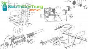 sơ đồ kĩ thuật máy phun khói Puls Fog K10-SP