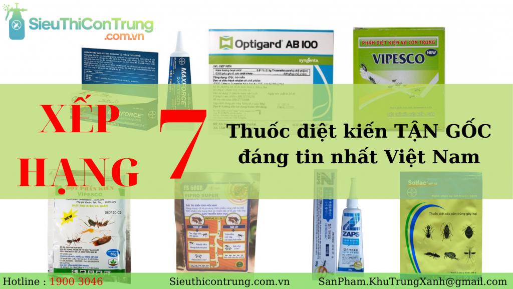 Xếp hạng 7 thuốc diệt kiến tận gốc đáng tin nhất Việt Nam